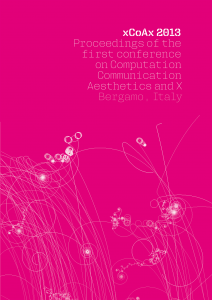 cover of the xCoAx 2013 proceedings